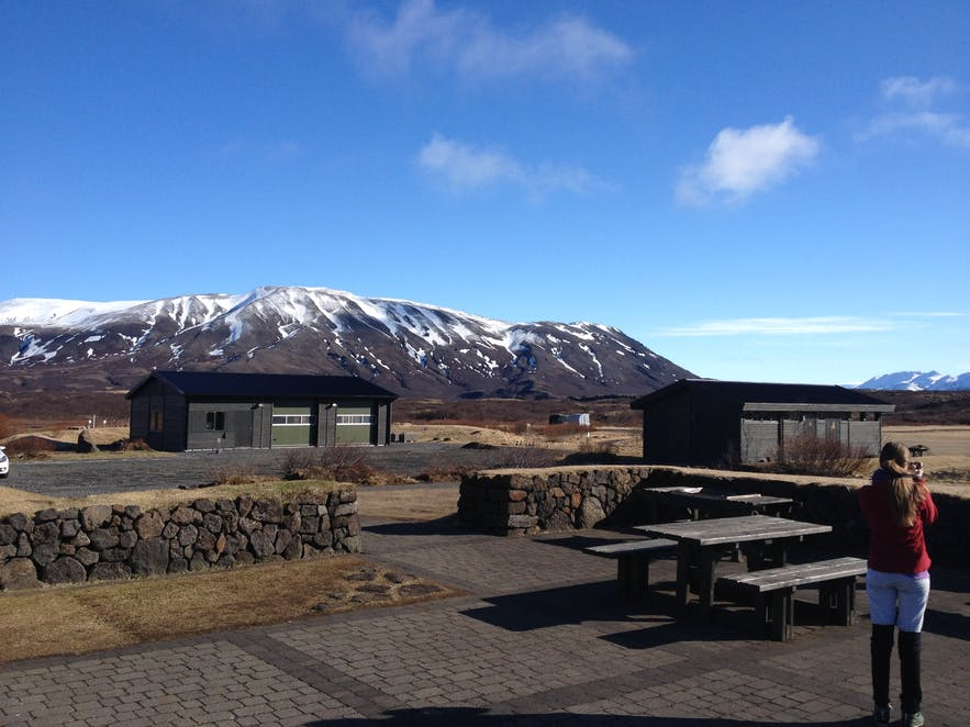 Þingvellir has one campsite visitors can stay in throughout summer, with beautiful mountain views.