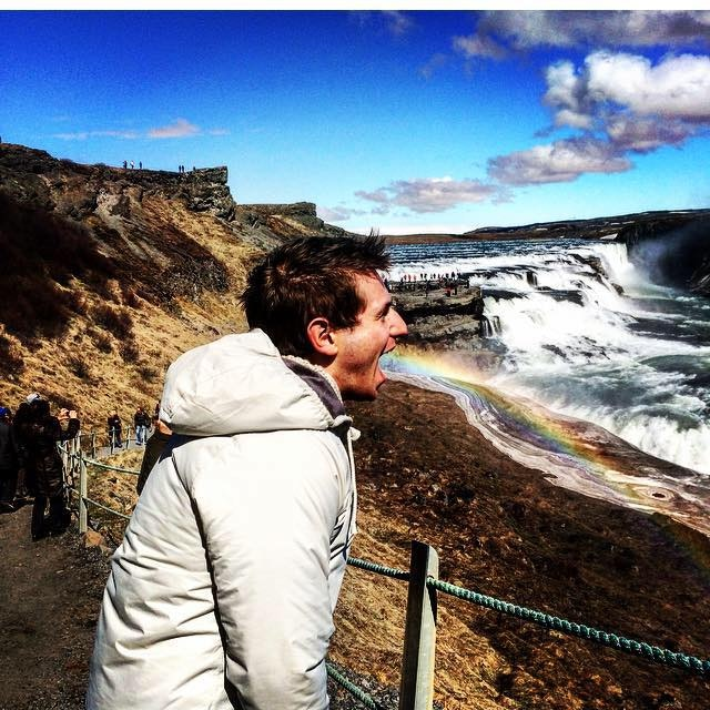 The rainbows that spring from the spray of Gullfoss on a sunny day make for some great photos.