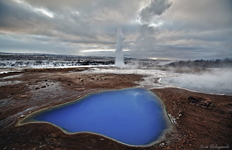 Strokkur erupts on the Golden Circle