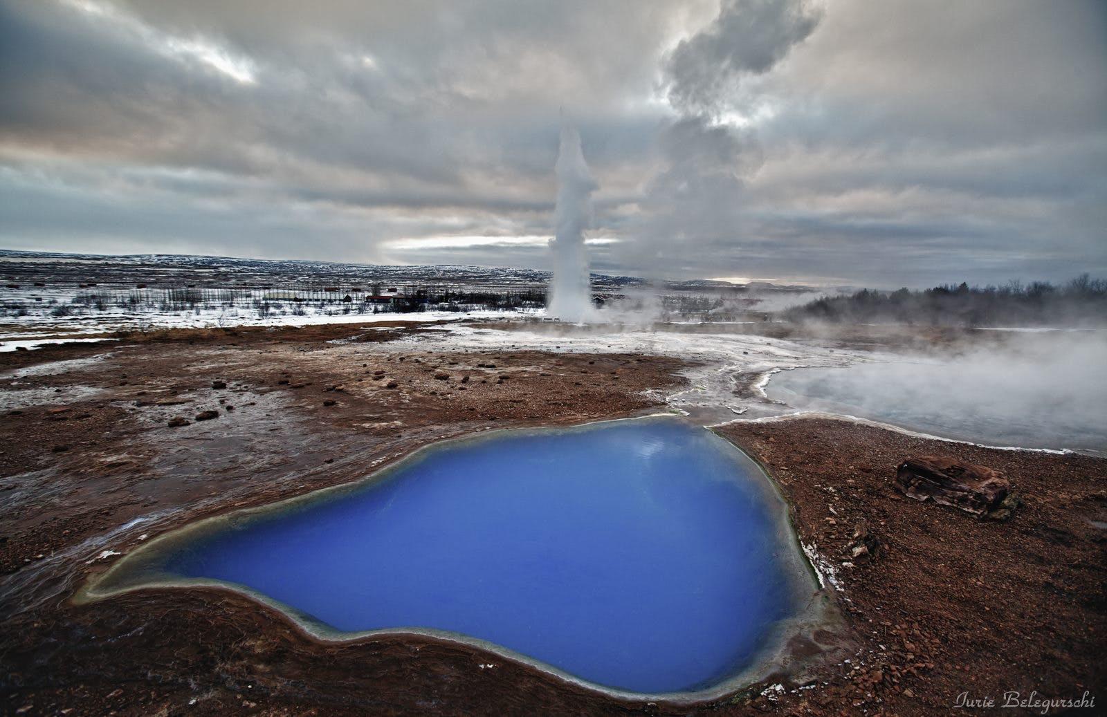 Strokkur erupts on the Golden Circle