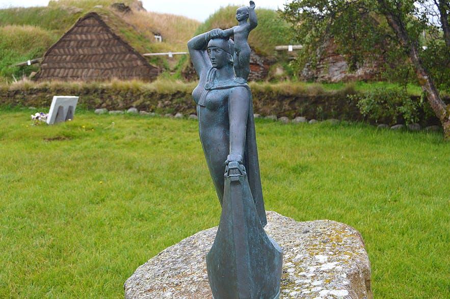 The Historical Laugarbrekka on the Snæfellsnes Peninsula in West-Iceland