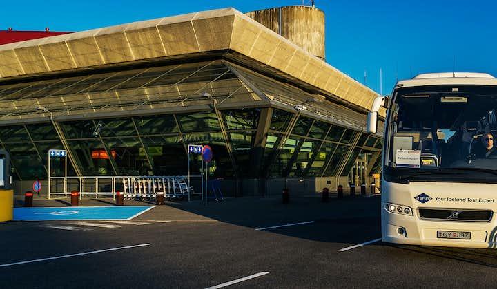Keflavík International Airport is on the opposite side of the Reykjanes Peninsula.