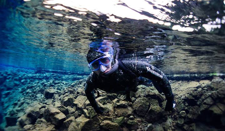 'The Real Blue Lagoon' rest at the end of Silfra Fissure, and is known for its sandy bottom and 'Tiny Silfra'!