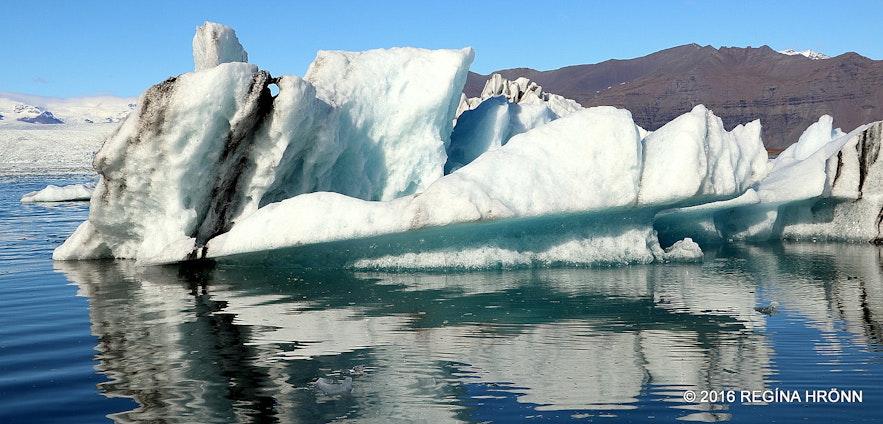 Jökulsárlón glacier lagoon in south Iceland