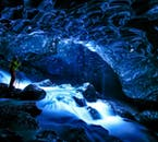 You'll see spectacular colours inside an authentic Ice Cave in Vatnajökull National Park