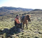 The Icelandic horse is an animal that is easy to befriend.