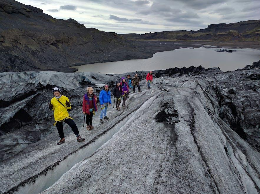 Wspinaczka na Sólheimajökull, który jest bardzo popularną destynacją, zwłaszcza z Reykjaviku