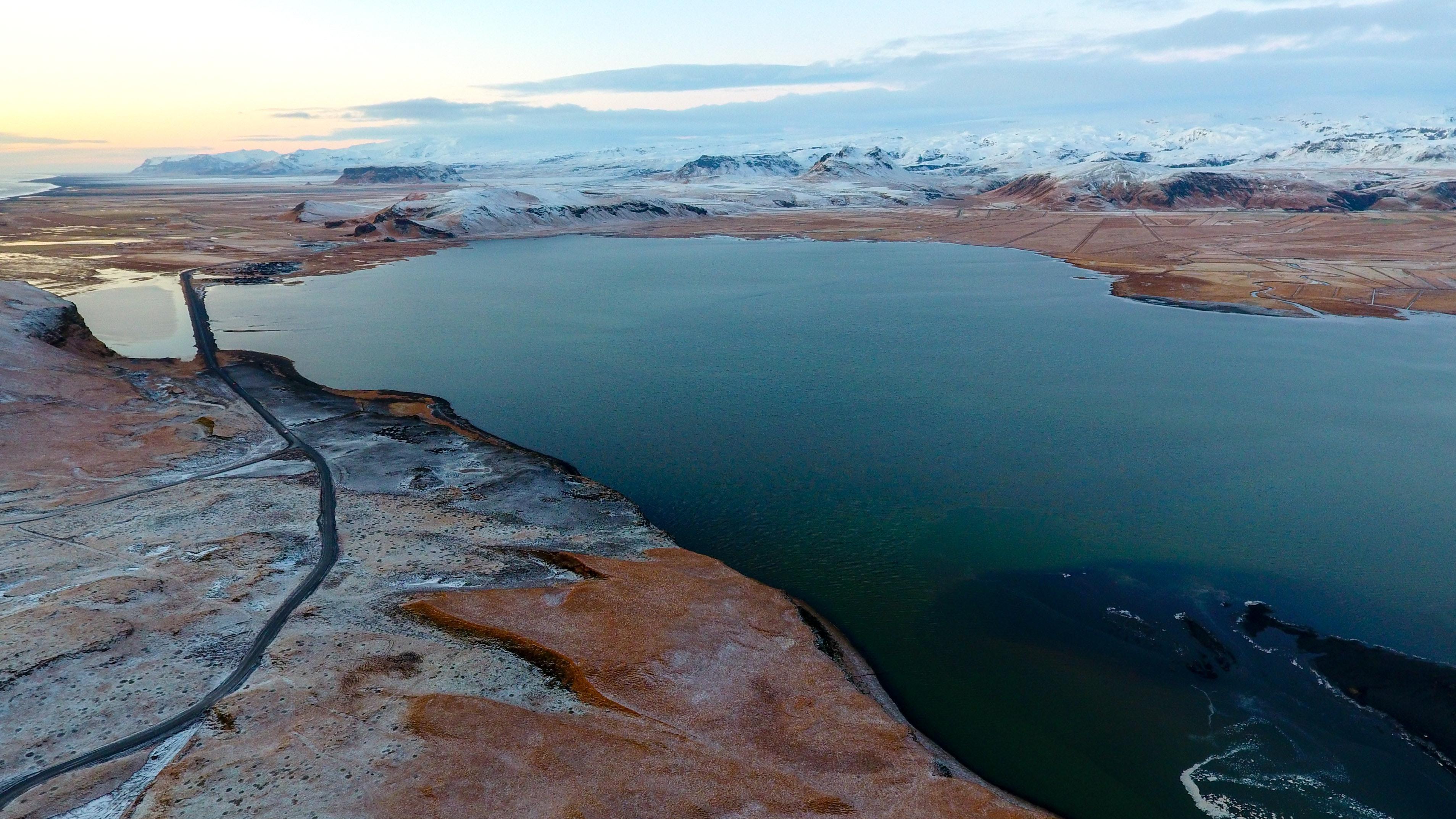 Landscape surrounding Dyrhólaey in south Iceland
