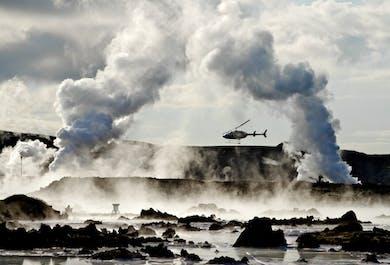 Lot helikopterem | Geotermalny obszar półwyspu Reykjanes