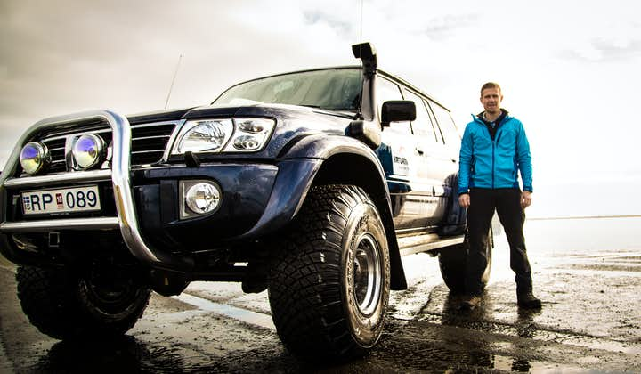 A super jeep opens up destinations in South Iceland in summer, such as Katla Volcano and Mýrdalsjökull glacier.