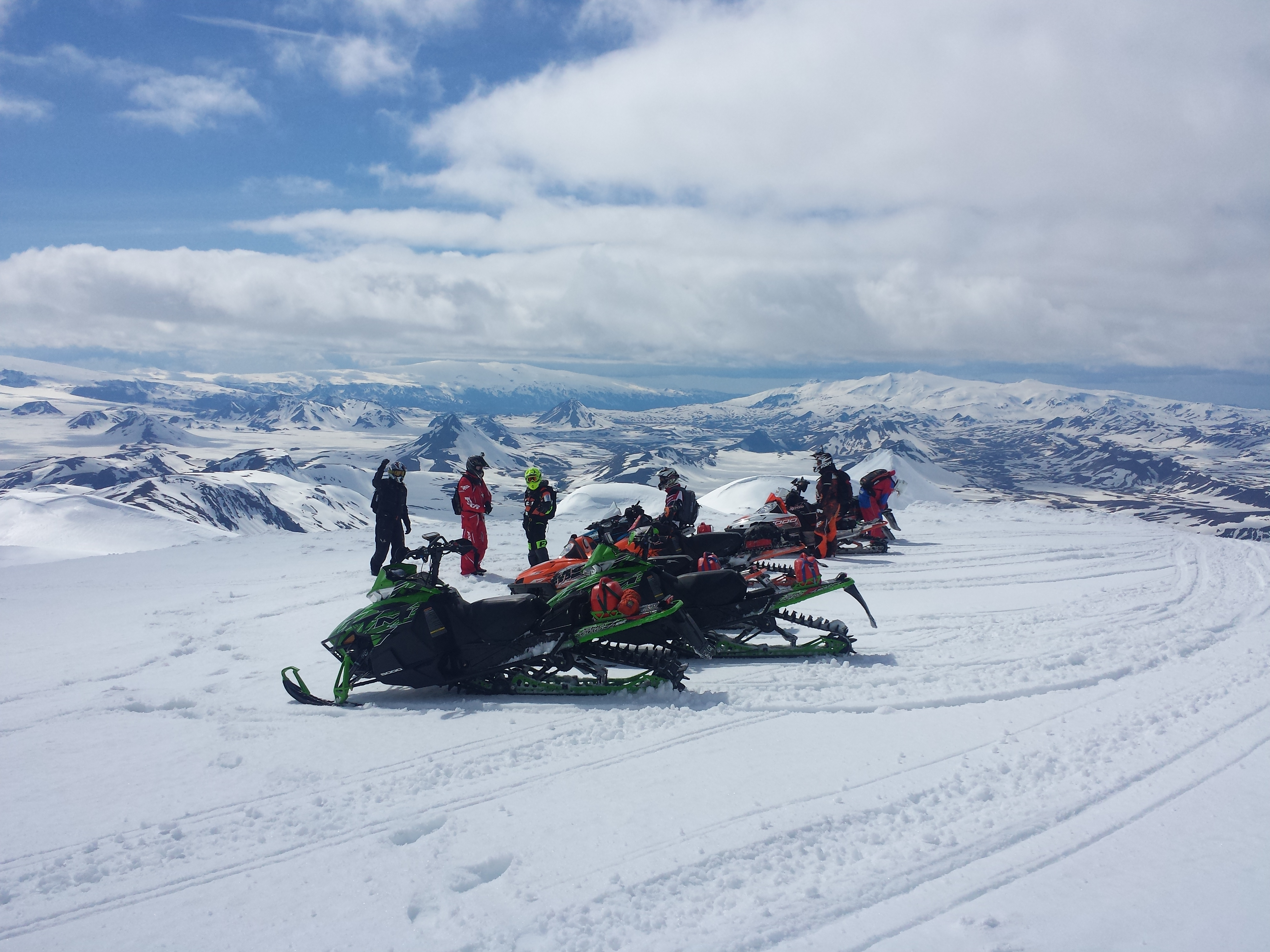 A Snowmobiling tour is a great adventure for the whole family.