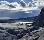 A lovely summer's day on Sólheimajökull glacier.