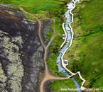 A warm stream trickles through Reykjadalur, a valley above Hveragerði town in South Iceland.