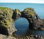 Gatklettur, the distinctive rock arch, found on the Snæfellsnes Peninsula.