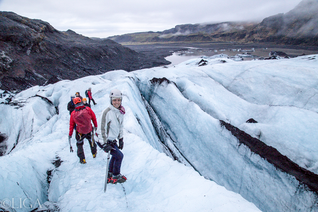 Glacier Hiking on Sólheimajökull feels very much like traversing the frozen expanse of some icy planet.