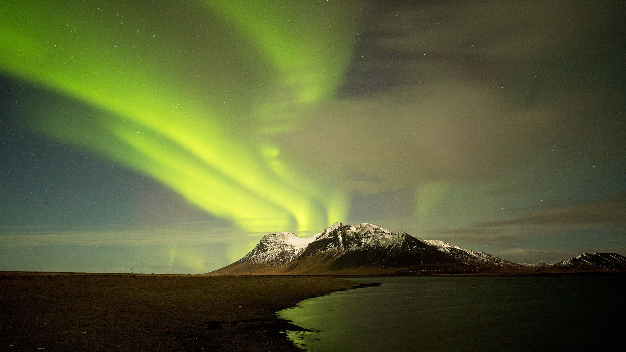 When the magical Northern Lights decide to dance over Iceland's mountainscapes, a photographic opportunity should not be missed.