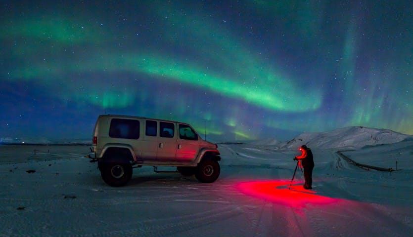 Polowanie na zorzę polarną - wycieczka Super Jeepem