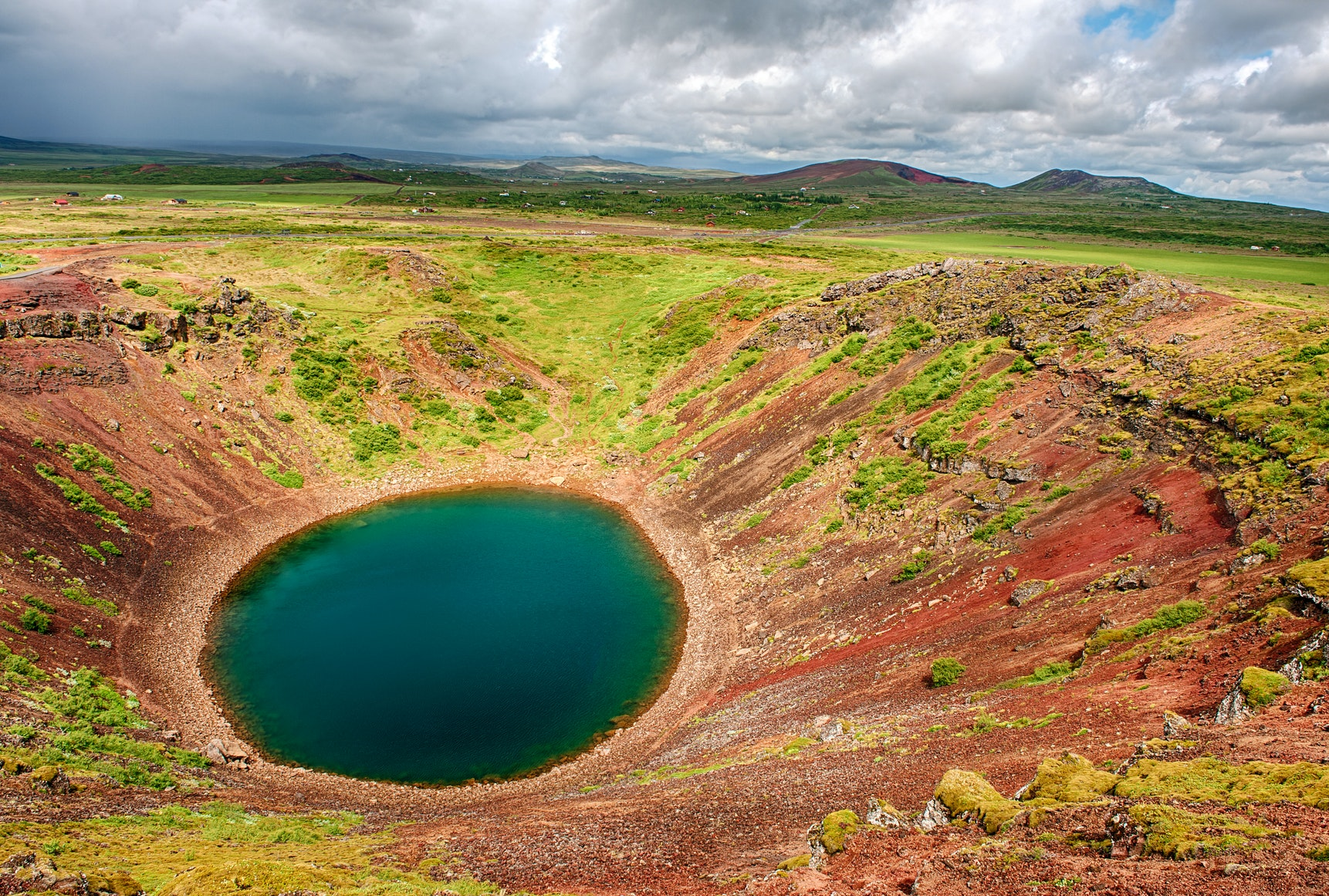 Kerið crater on the Golden Circle