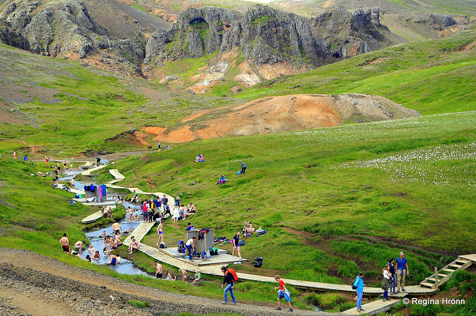 Bathe in a Hot River in the beautiful Reykjadalur Valley in South-Iceland!