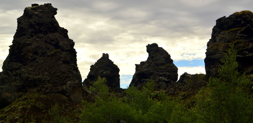Dimmuborgir in the Mývatn area in northeast Iceland