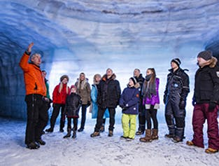 Into the Glacier with Lava Caving