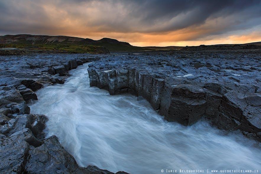 Ein Fluss in Island