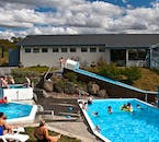 At the end of the tour, you will spend some time relaxing at the Húsafell swimming complex.