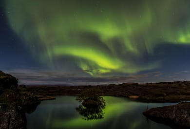 Nature Baths and Northern Lights | Private Tour from Lake Myvatn