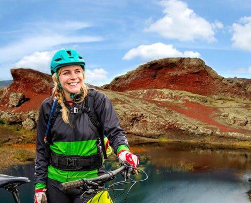 Mountain bike adventure in Heidmork Nature Reserve
