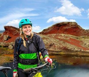 Mountainbike-Tour im Naturreservat Heidmörk bei Reykjavik