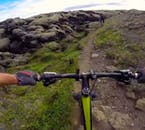 A single track means you will be mountain biking in convoy with your group.