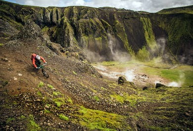 Evening Mountain Bike and Hot Springs Tour