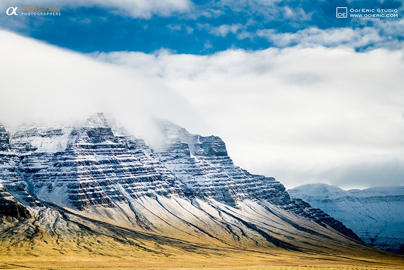 Icelandic mountain landscape in October