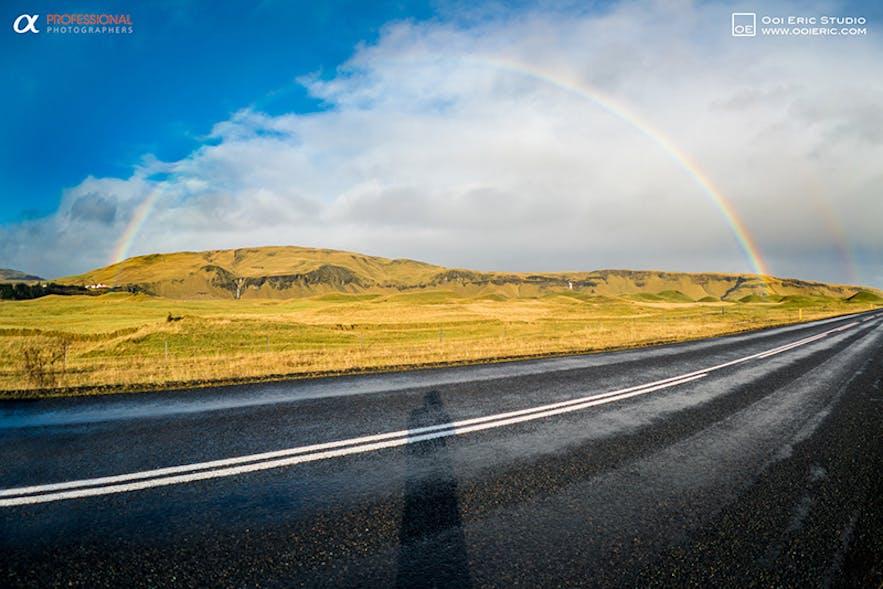 Route en Islande en octobre