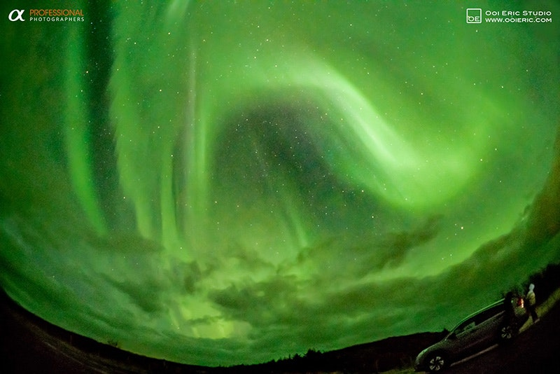 Northern Lights in Iceland in October