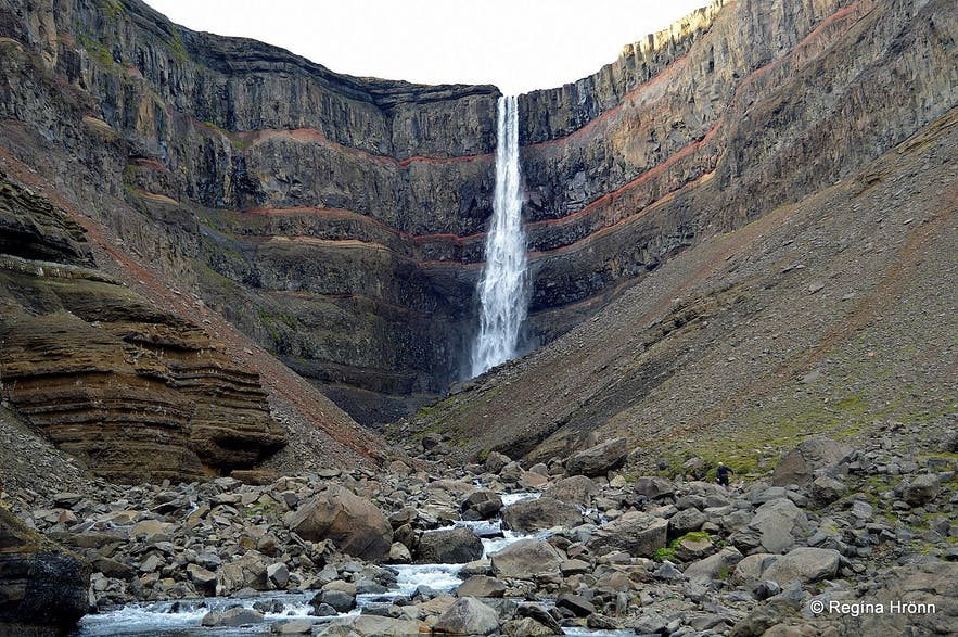 Haifoss Waterfall in the Highlands.