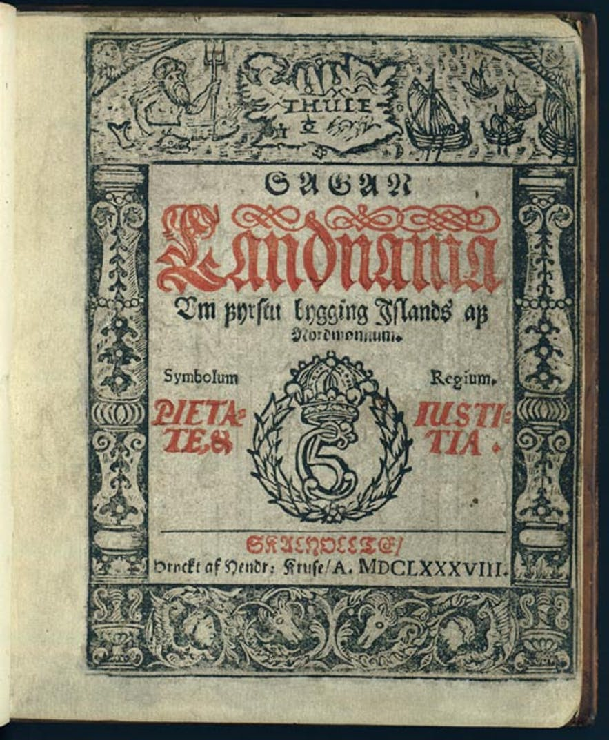 Later version of the Book of Settlements, compiled by H. Kruse in 1688.