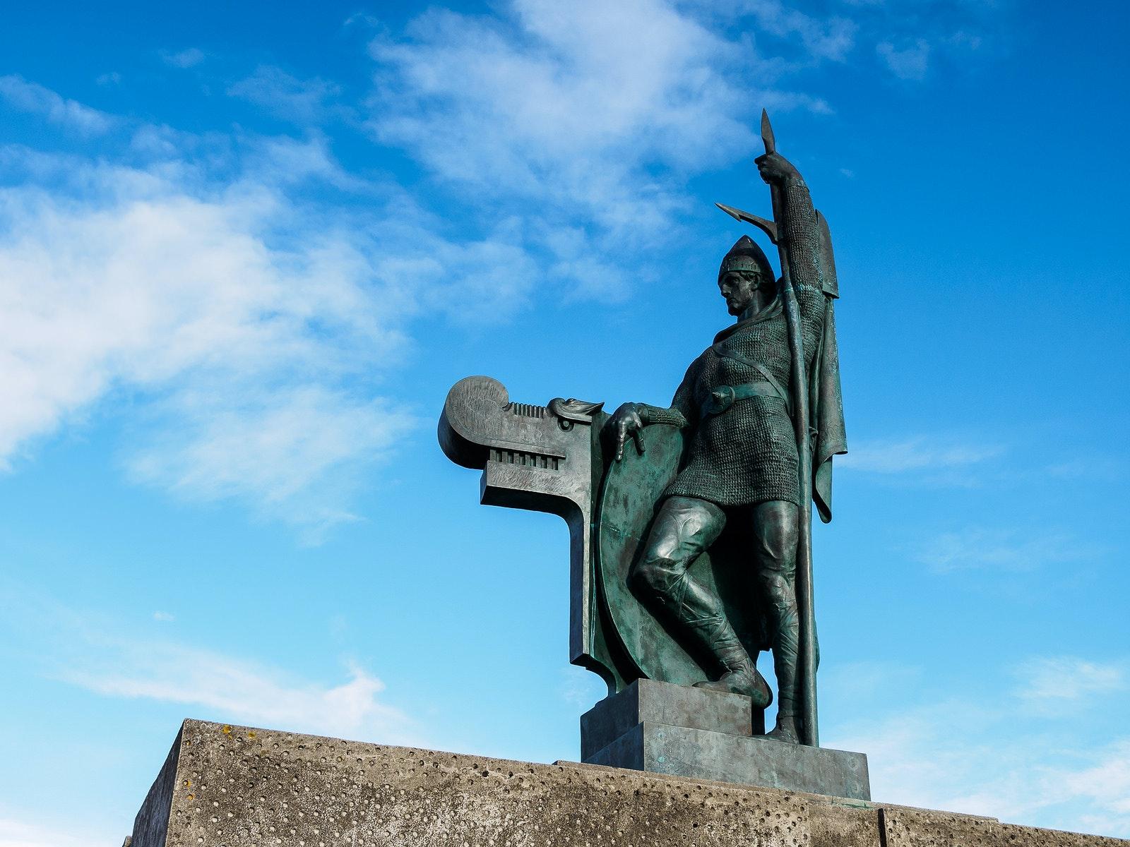 This statue of Ingólfur Arnason is on the hill Árnarhóll, which overlooks Reykjavík's downtown.