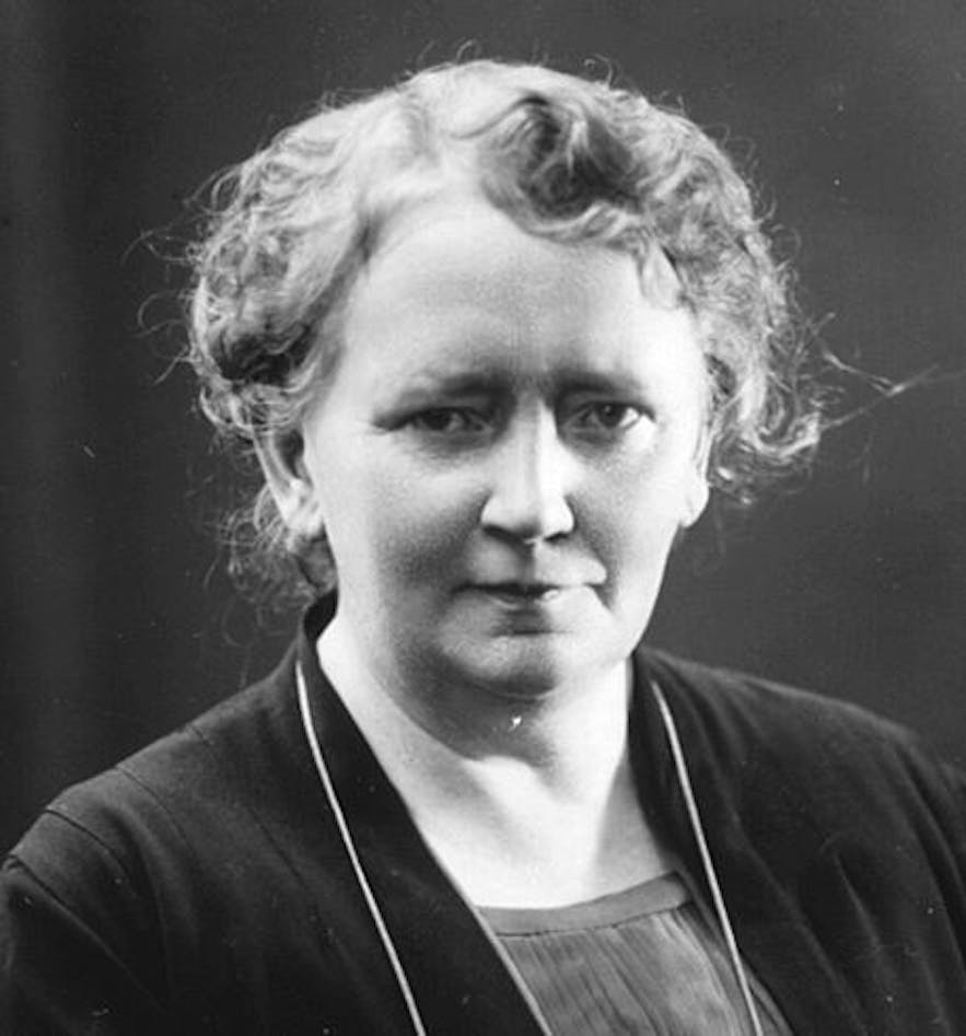 Ingibjörg Bjarnason, a lifelong educator, was the first woman elected to the Althing.