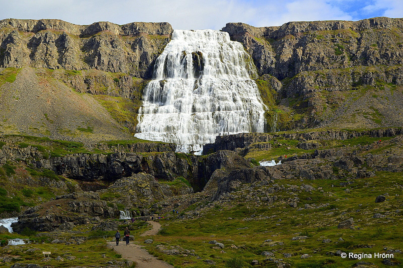 Dynjandi waterfall in the Westfjords in northwest Iceland