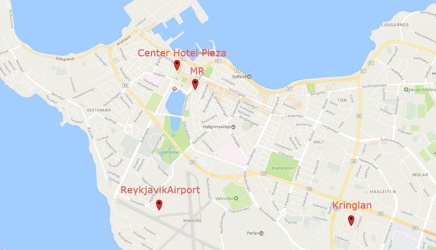 冰岛出租车地图