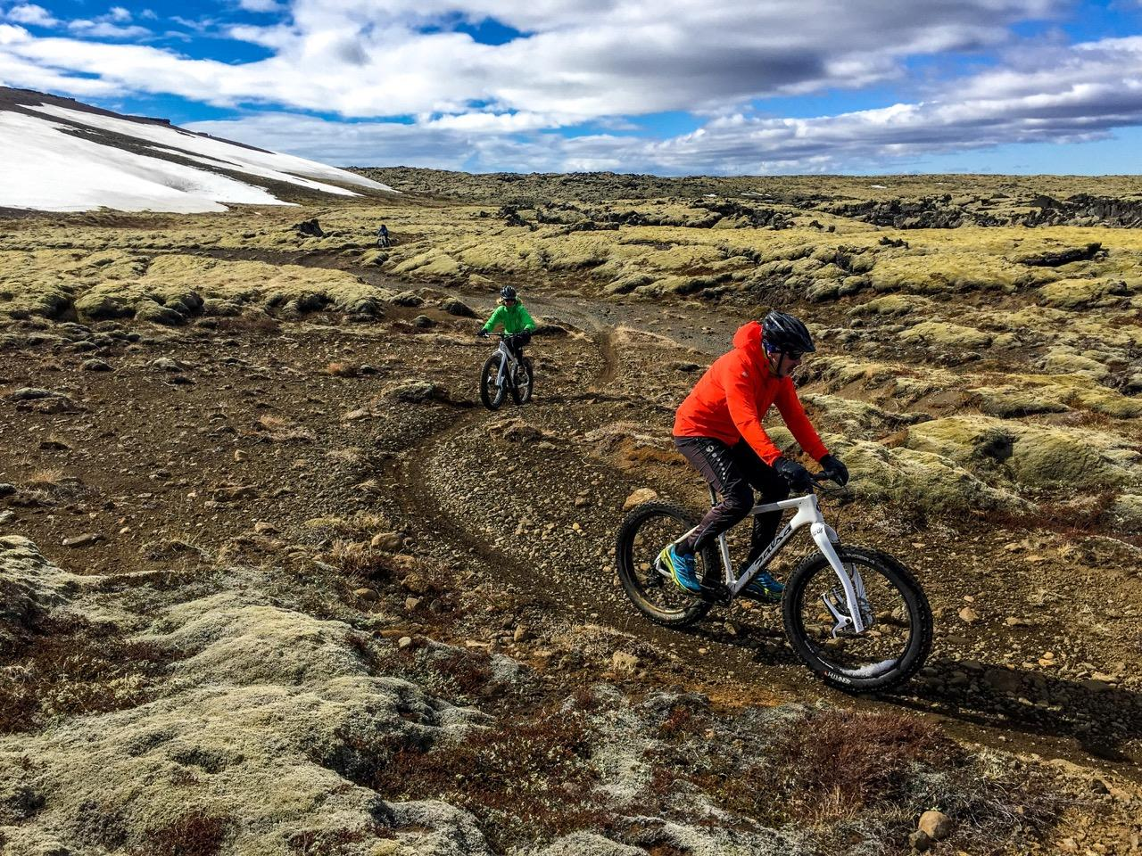 The Reykjanes Peninsula in south-east Iceland is a perfect place to bike through Iceland's iconic landscapes.