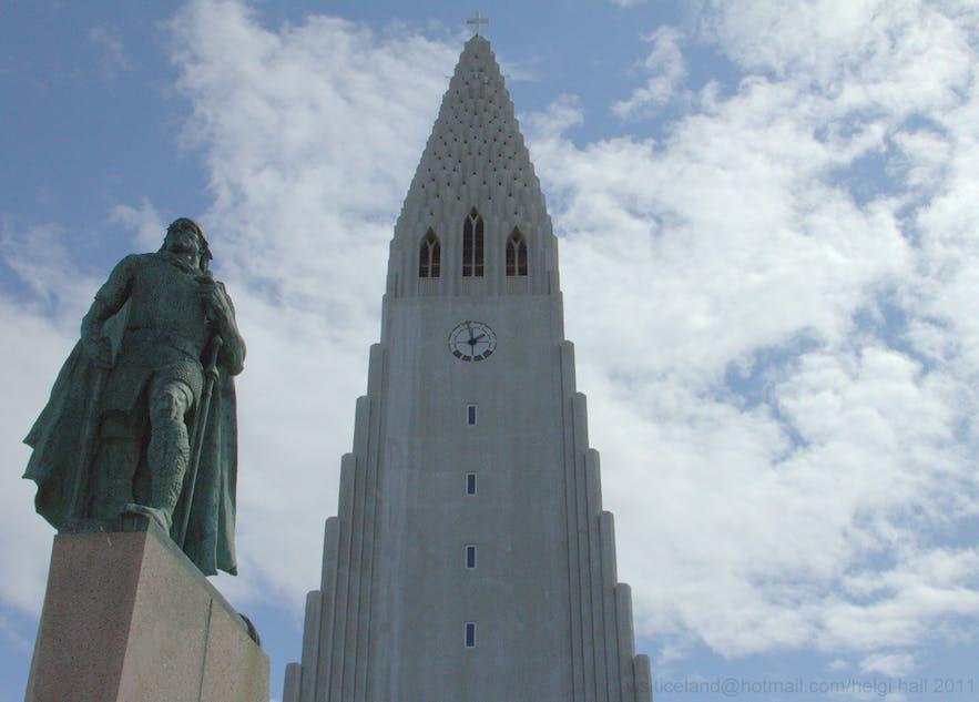 Leif Erikson has an iconic statue outside of Hallgrímskirkja church.