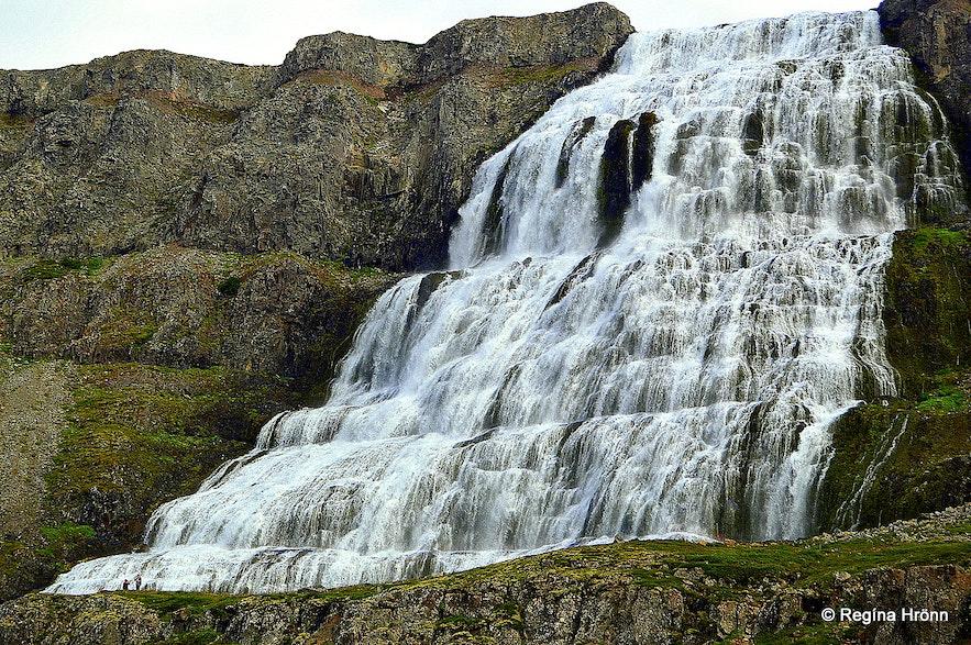 Dynjandi waterfall in the Westfjords in northwest Iceland