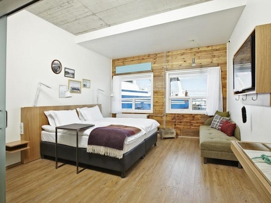 Pokój w hotelu Reykjavik Marina