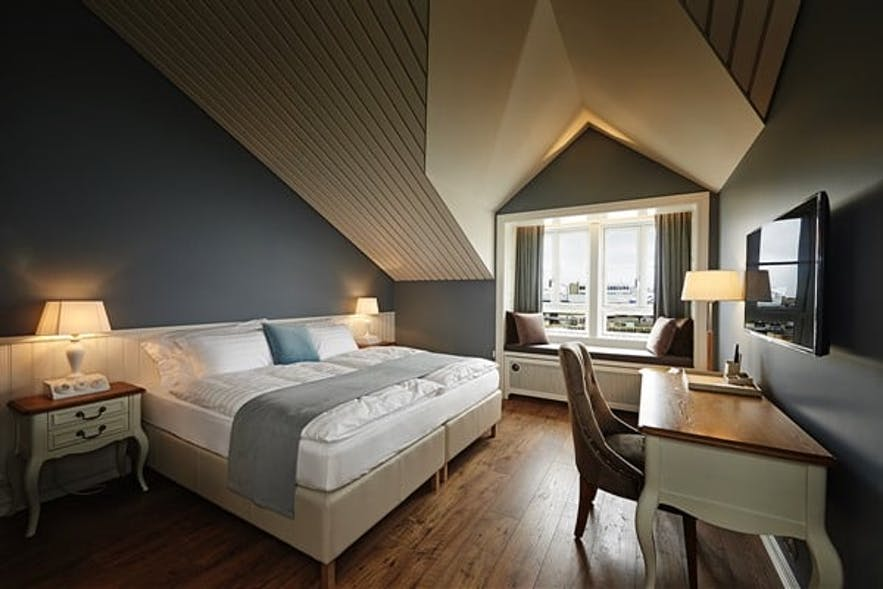 Room at Hotel Sigló in Iceland
