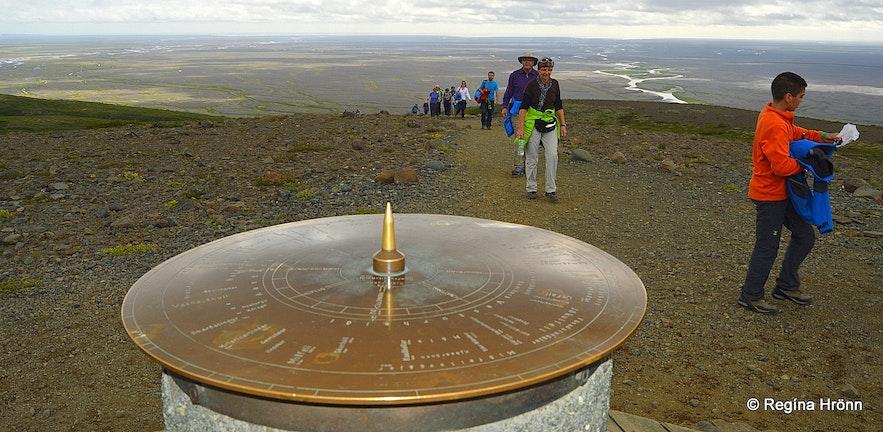 Sjónarsker view-dial in Skaftafell