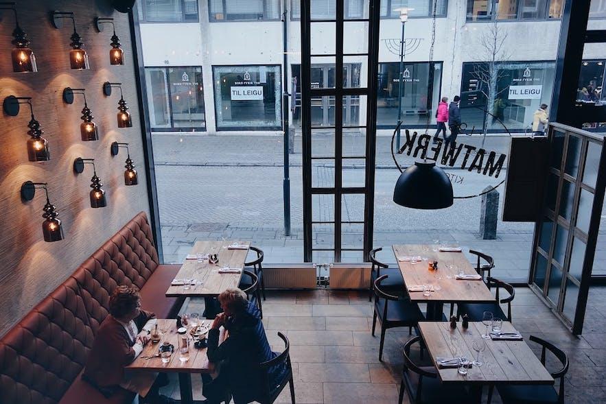 Matwerk gastropub is a trendy restaurant in Reykjavík