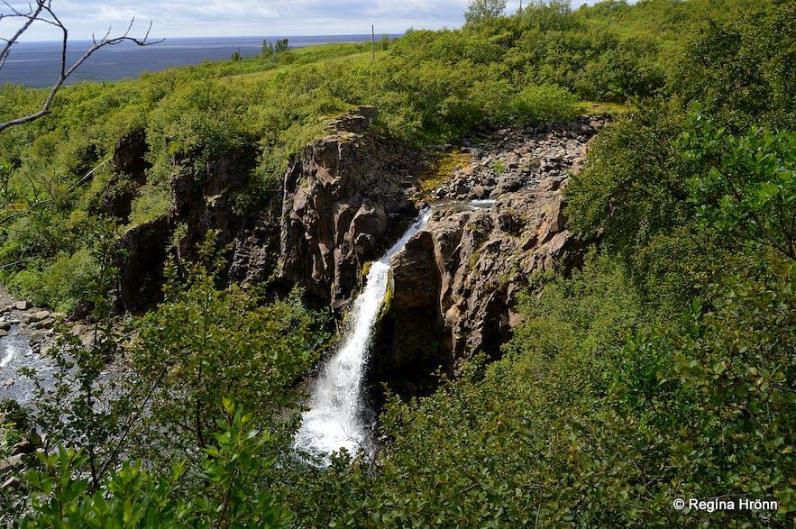 Þjófafoss waterfall in Skaftafell, south Iceland