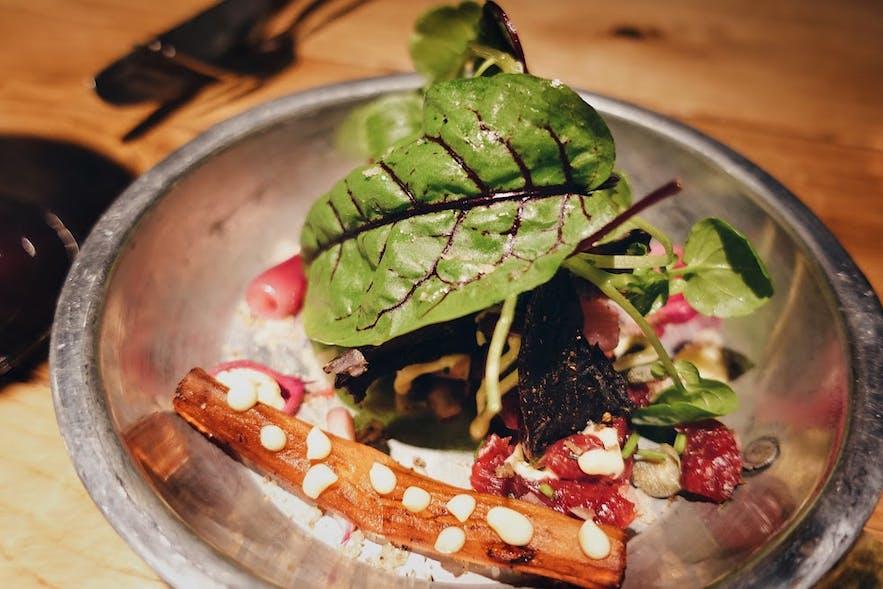 Beef tartar at Matwerk gastropub in Reykjavik